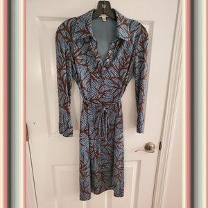 Diane Von Furstenberg Silk Shirt Dress with Belt